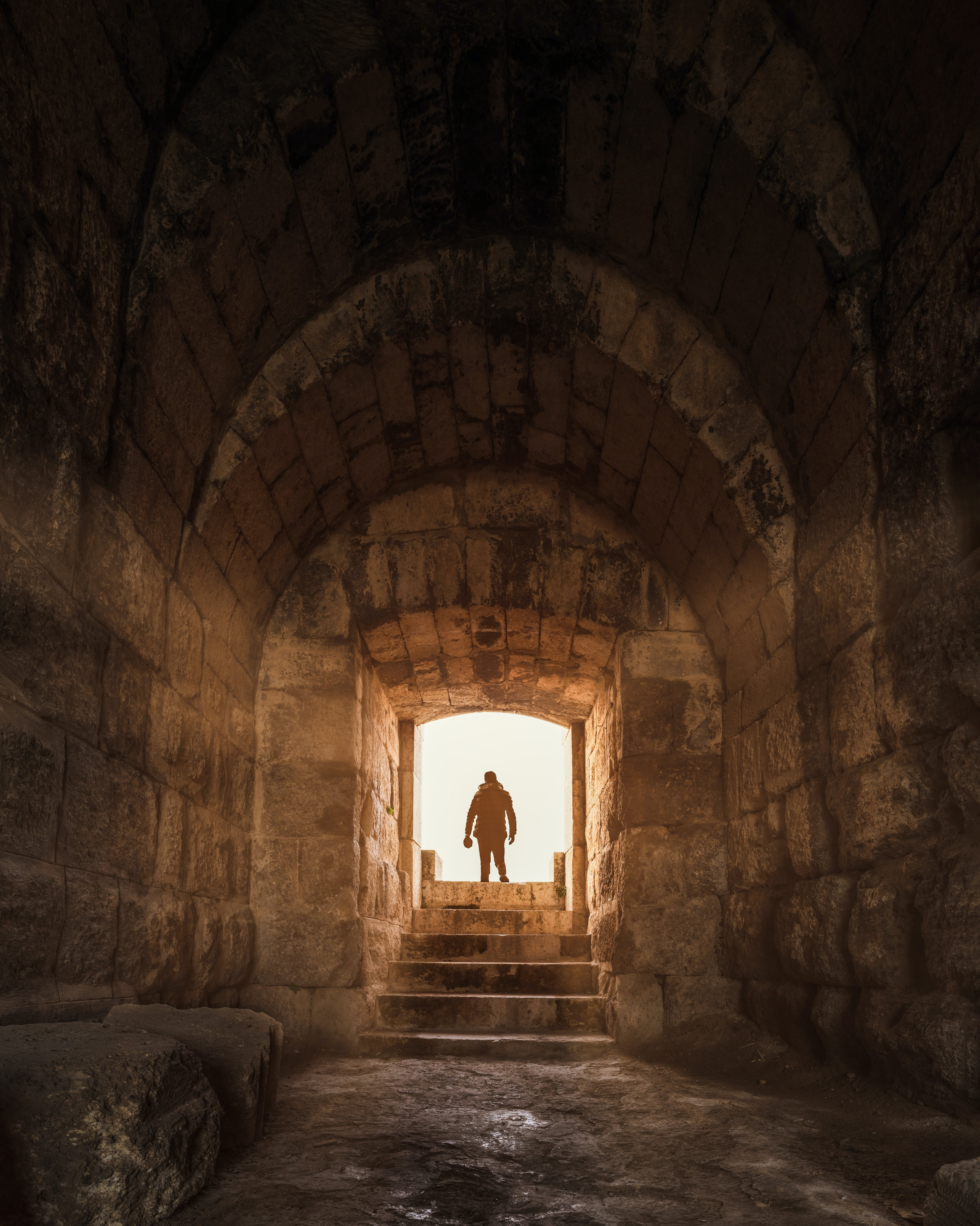 Free stock photo of arch, archeology, cave, city