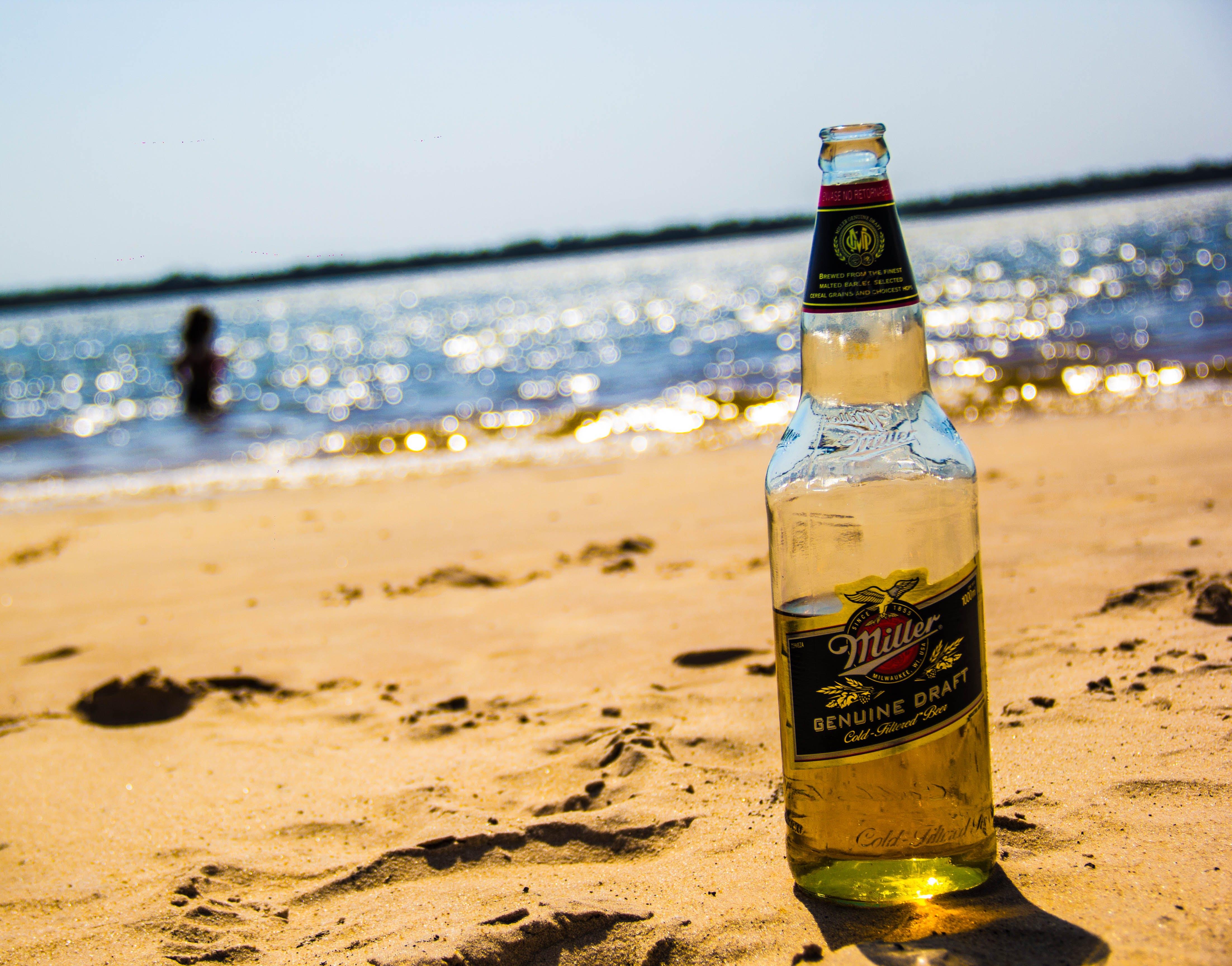 Free stock photo of beach, beer, beer bottle, blue water