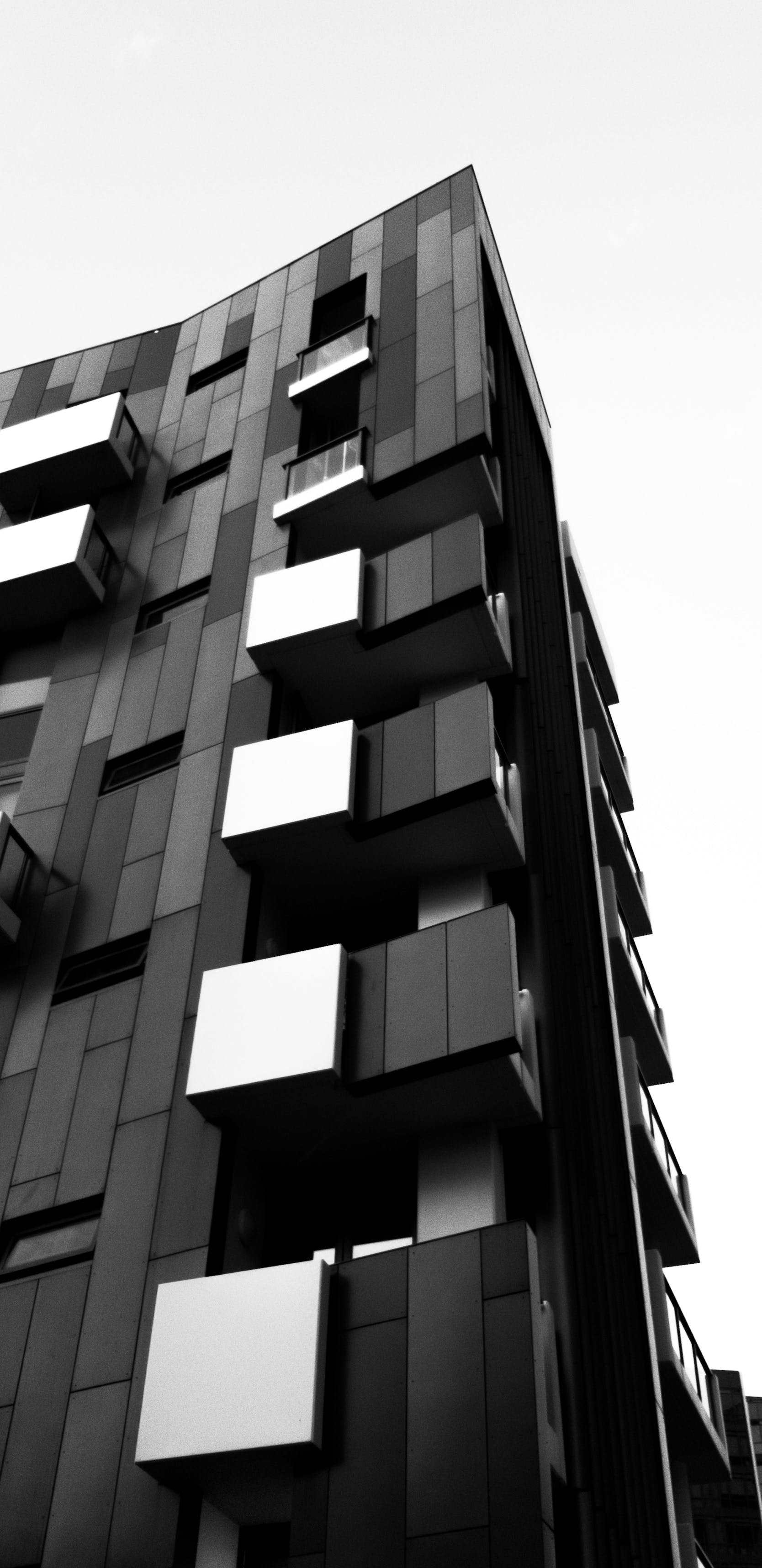 Free stock photo of architecture, black and white, minimal