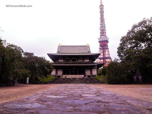 Δωρεάν στοκ φωτογραφιών με tokyo πύργος, αχλή, βουδισμός, βουδιστικός ναός