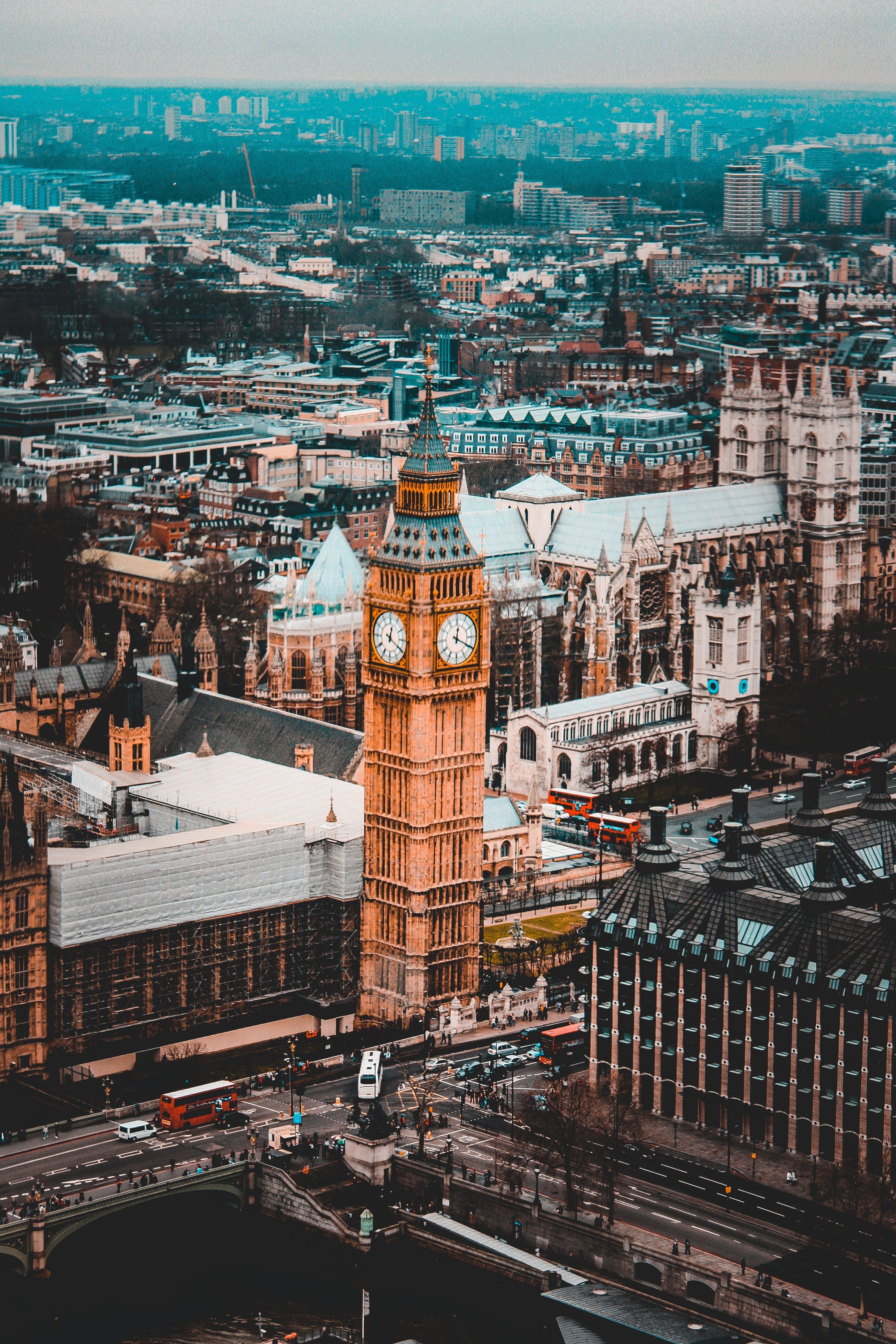 Základová fotografie zdarma na téma Anglie, architektura, auta, Big Ben