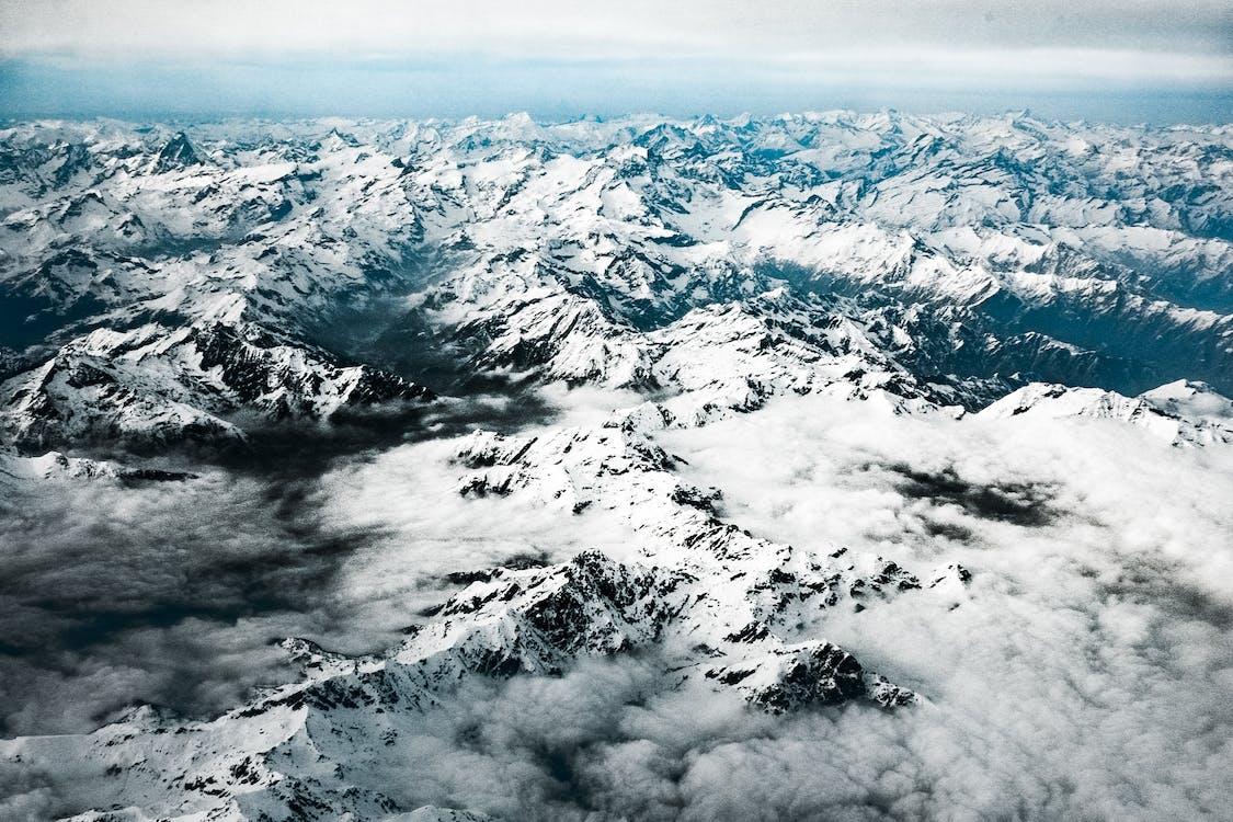 Alpok, befagyott, csúcs