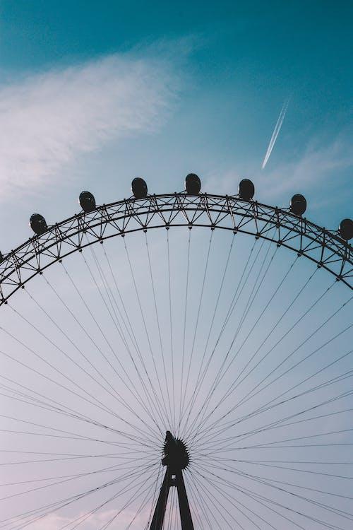 Ferris Wheel Under Blue