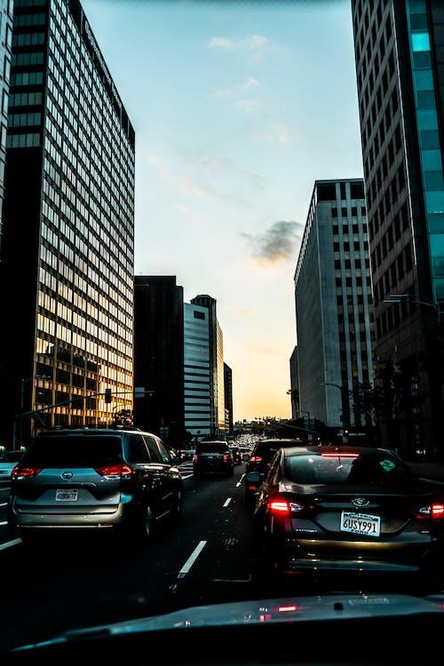 architektura, auta, budova