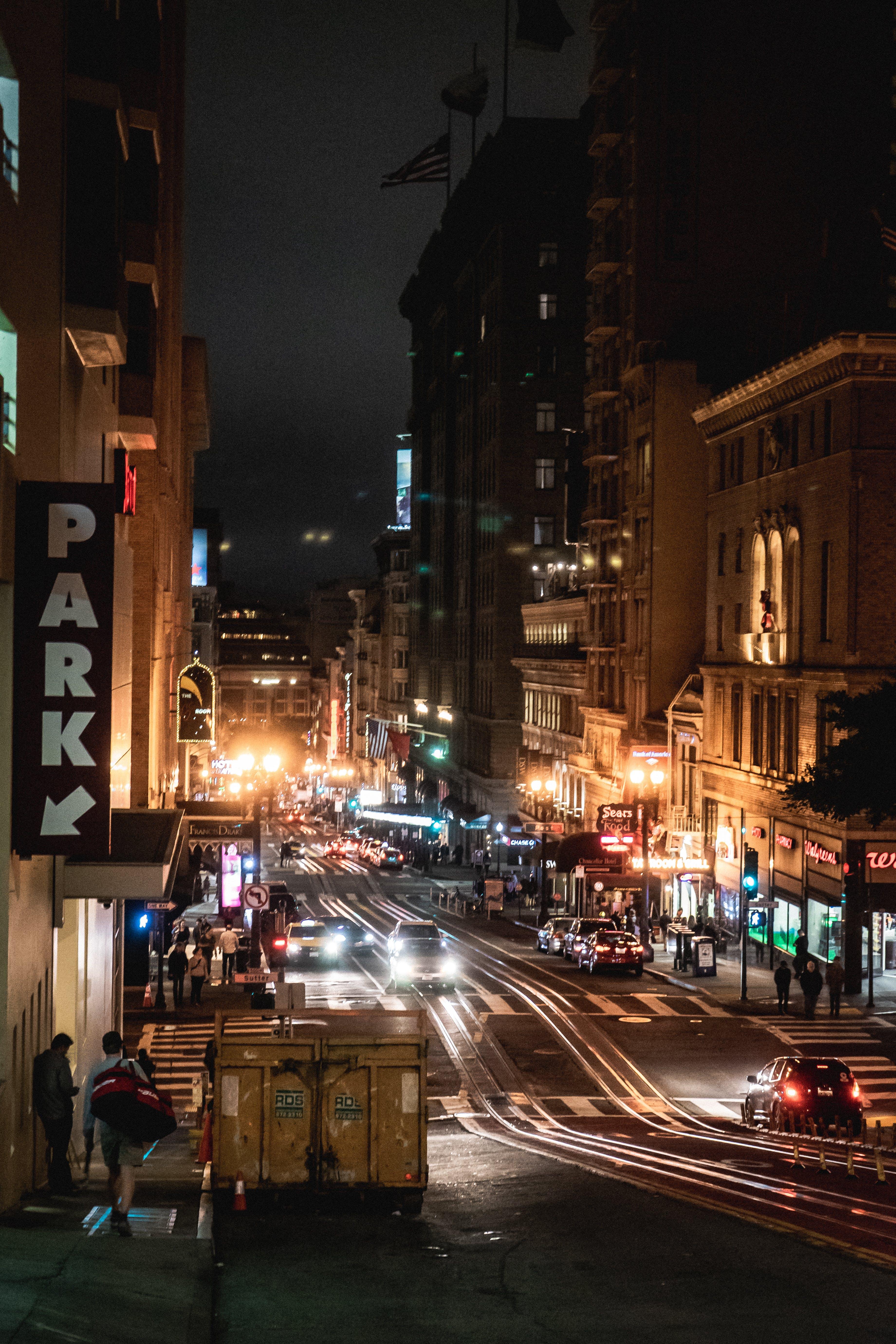 City Lights on Street