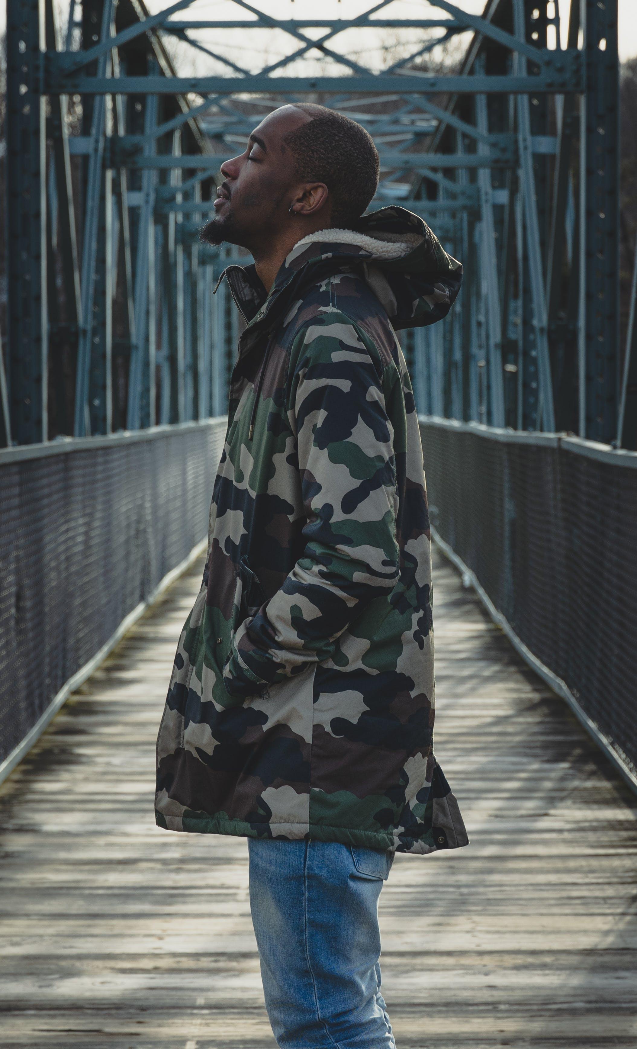 Free stock photo of blue, bridge, cold, jacket