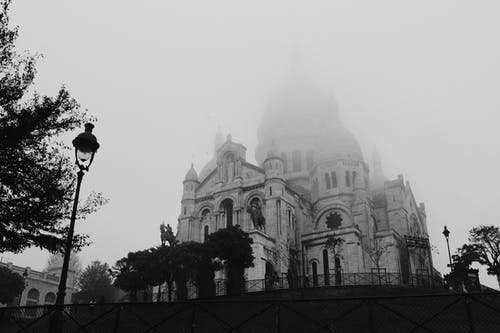 Monochrome Photo Of Cathedral