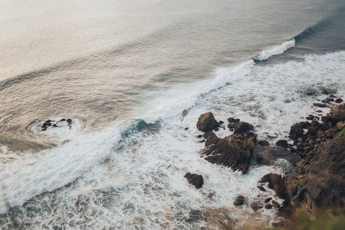 берег, береговая линия, брызги