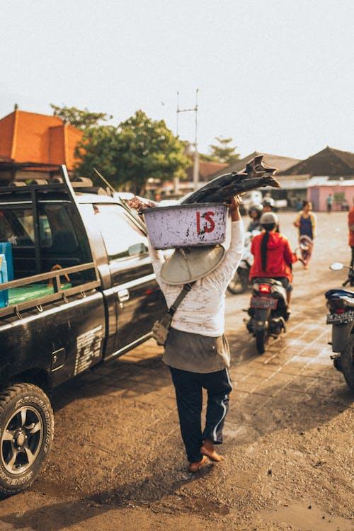 Kostenloses Stock Foto zu abholen, architektur, asien: menschen, automobil