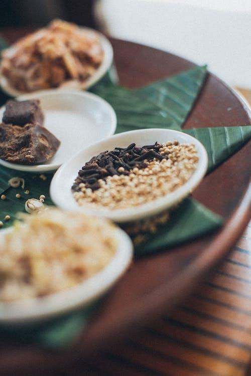 Food on Brown Plate