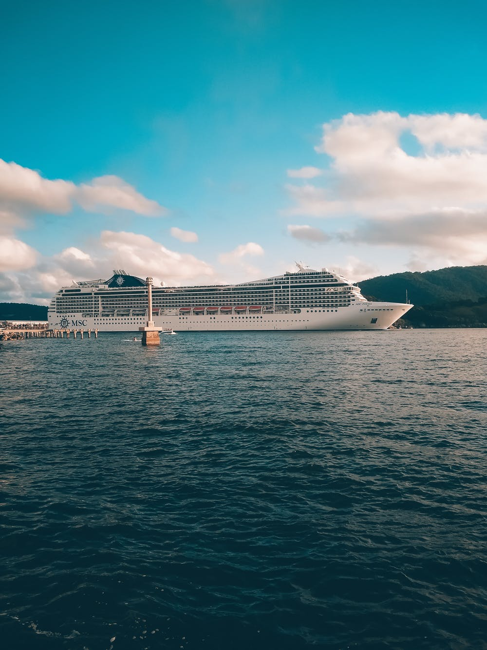 A cruise ship on the sea.   Photo: Pexels
