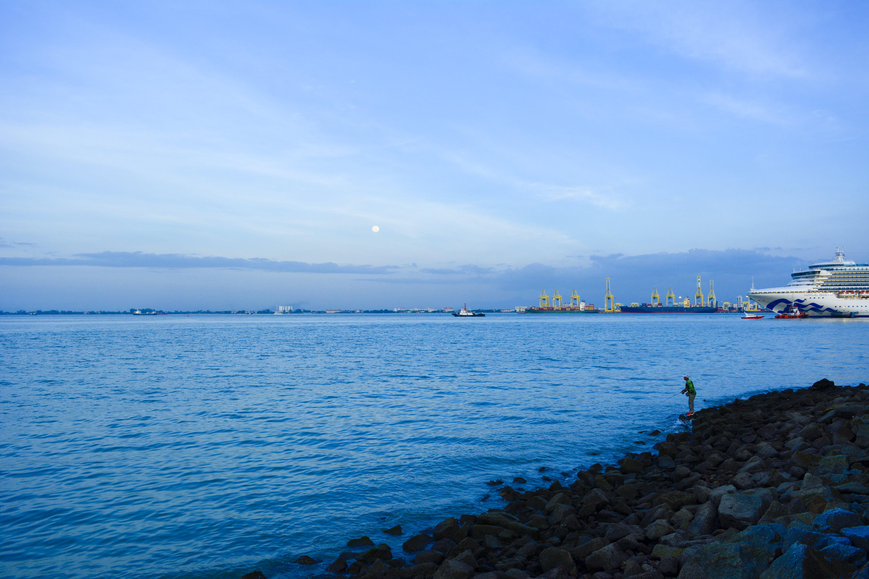 Free stock photo of beach, blue, boats, evening