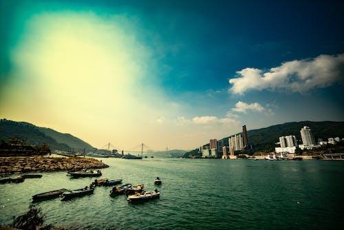 Free stock photo of boat, bridge, cloud