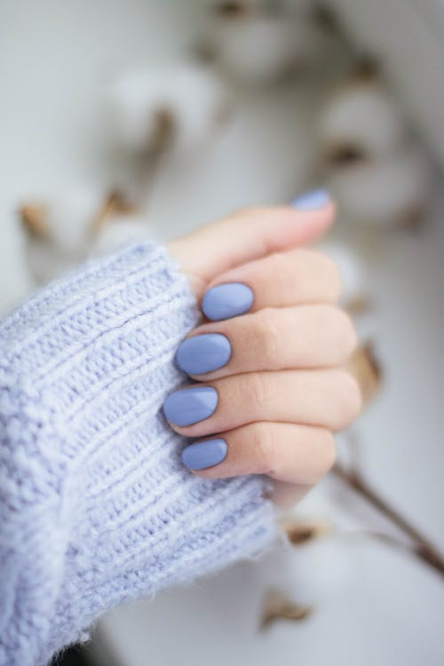 Purple Manicure