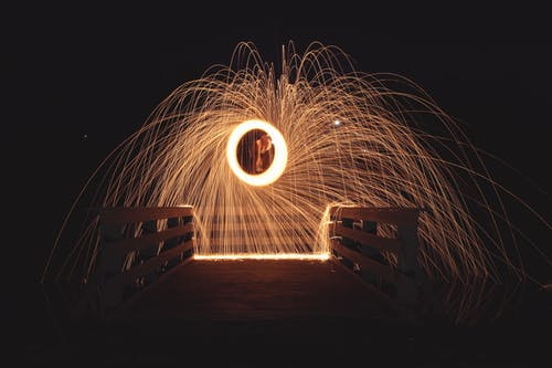 Free stock photo of steel wool photography