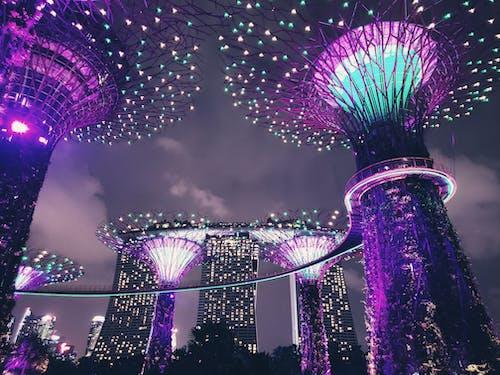 Gratis stockfoto met architectuur, avond, belicht, buiten