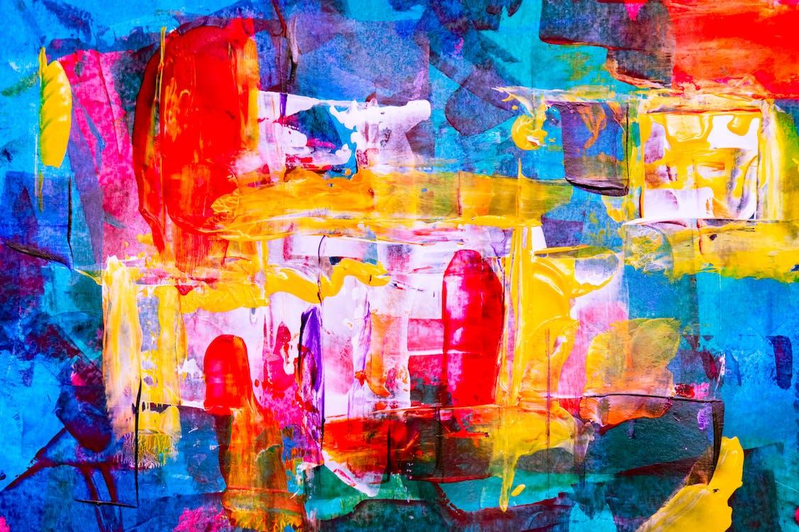 HD шпалери, абстрактна картина, абстрактний експресіонізм