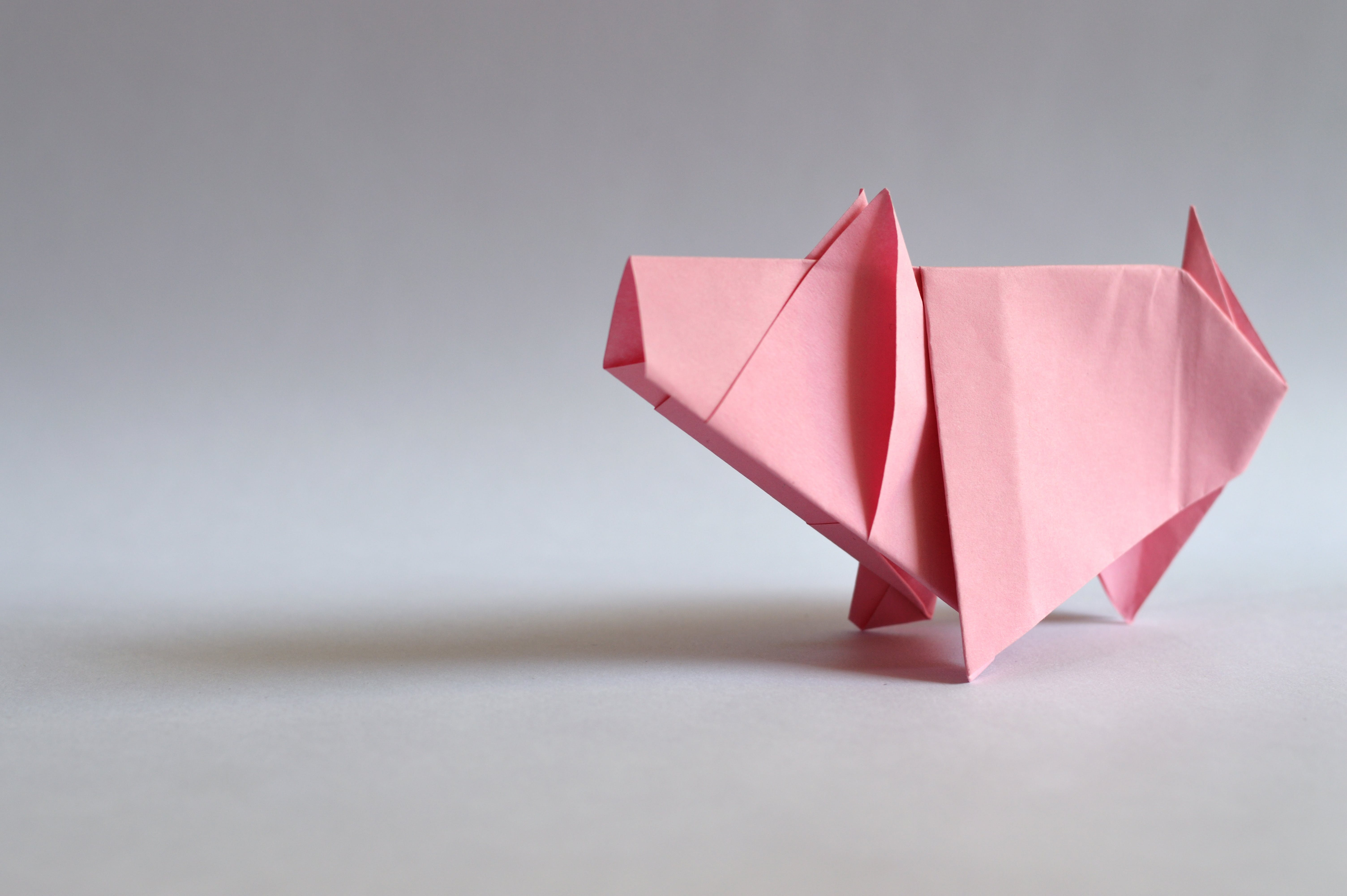 Pink Paper Origami