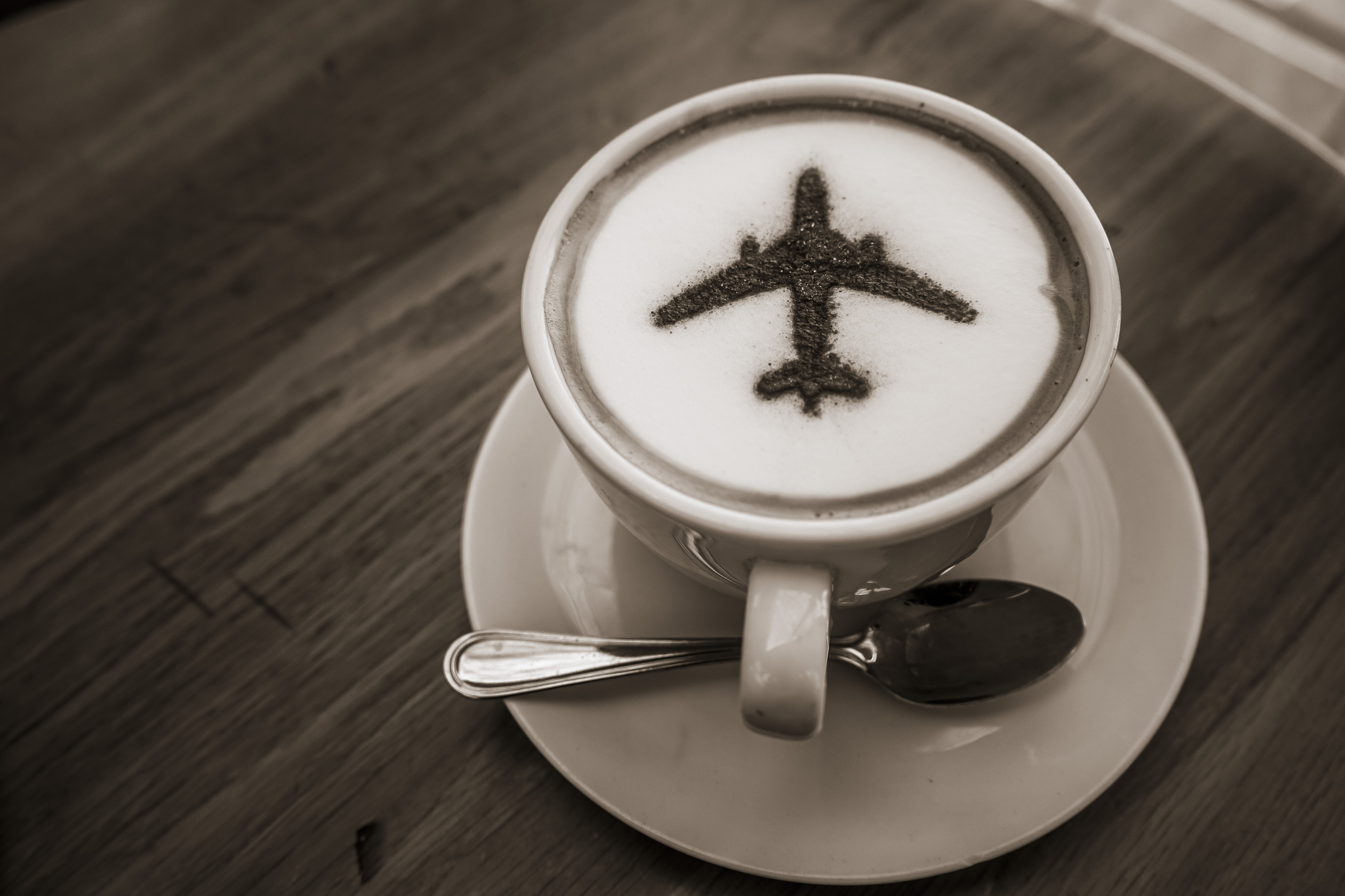 Free stock photo of airport, art, coffee, coffee art