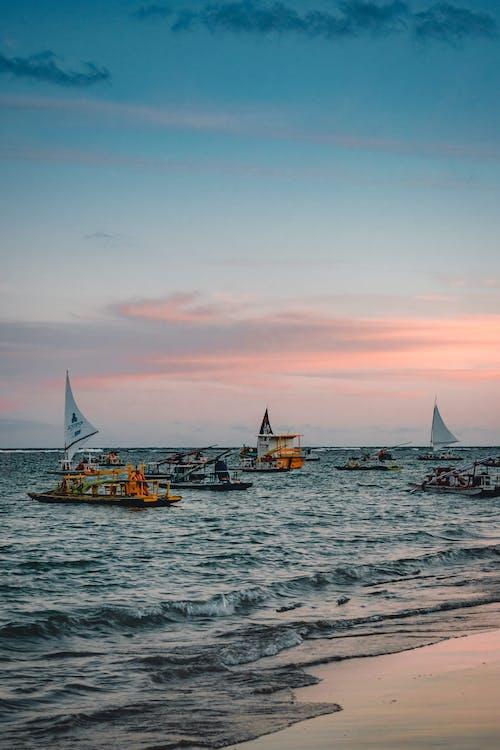 Sailing Ships at the Beach