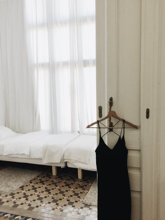 Black Spaghetti Strap Dress in Hanger