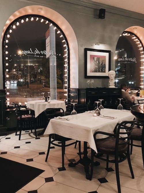 คลังภาพถ่ายฟรี ของ การรับประทานอาหาร, การออกแบบตกแต่งภายใน, ของบนโต๊ะอาหาร, ข้างใน