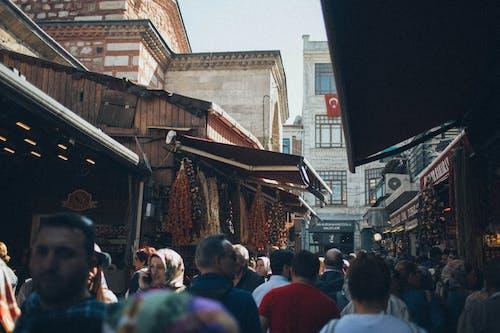 Imagine de stoc gratuită din aglomerație, magazine, oameni, piață