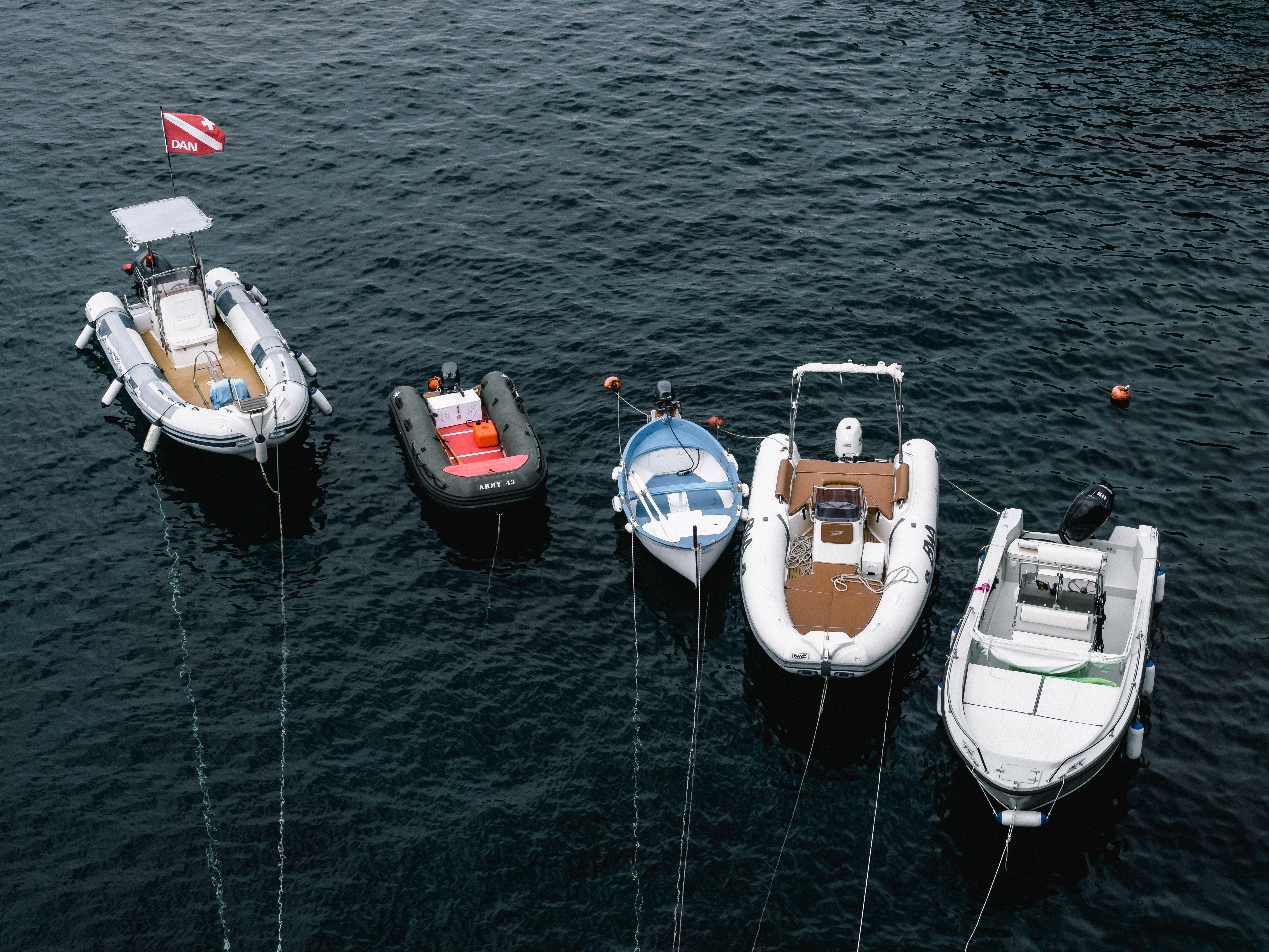 Photos gratuites de bateaux, d'en haut, embarcations, mer