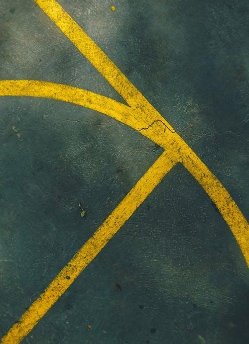 노란색, 녹색, 농구, 농구 코트의 무료 스톡 사진
