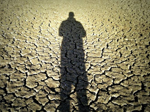 Free stock photo of desert, drought, man, shadow