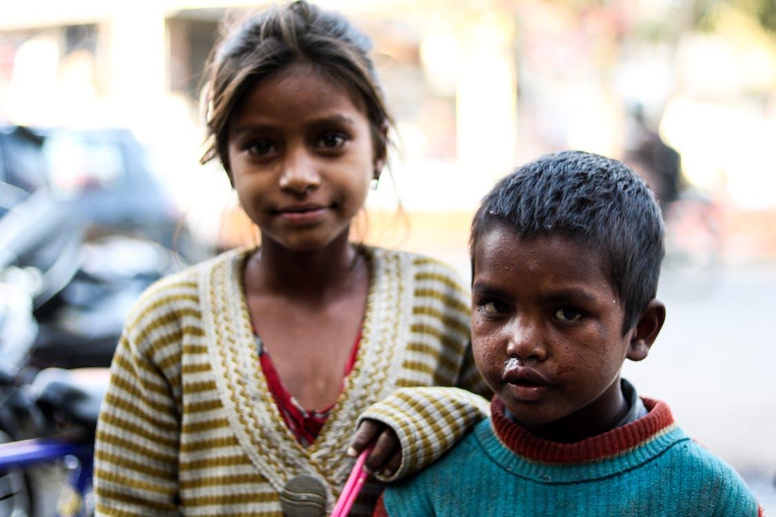 가난한 아이들, 거리, 거리 사진