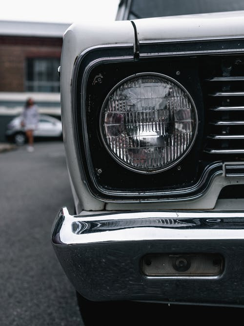 Close-Up Photo of Headlight
