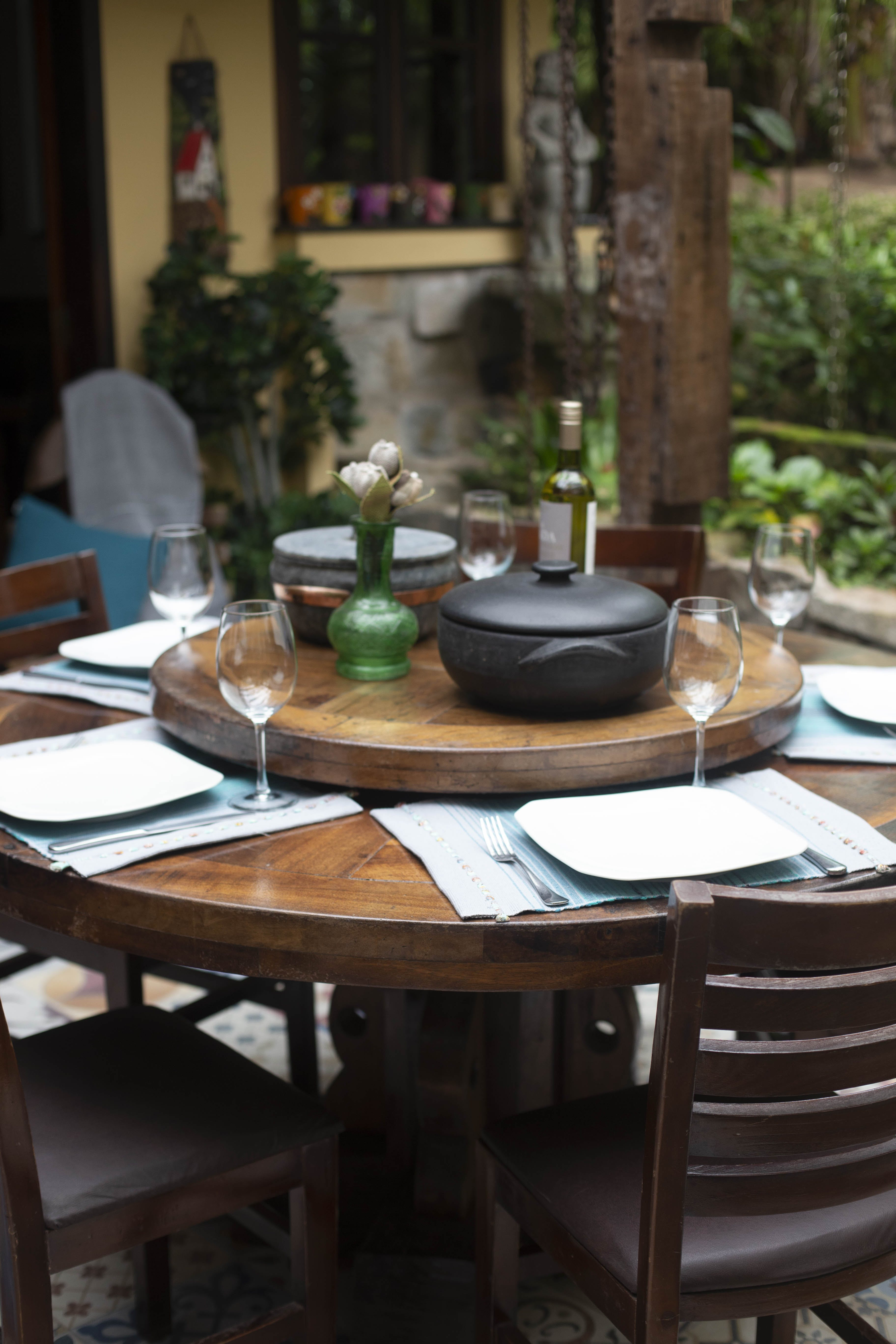 Table Dining Set Up Outdoor
