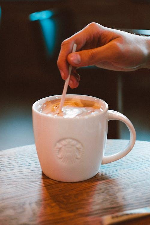 cafeïne, cappuccino, drank
