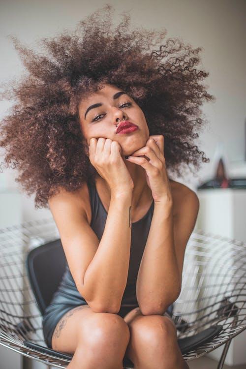 Афро, Взрослый, волос