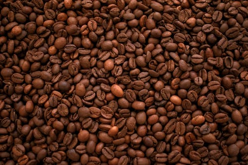 Brown Coffee Beans on Brown Wooden Surface