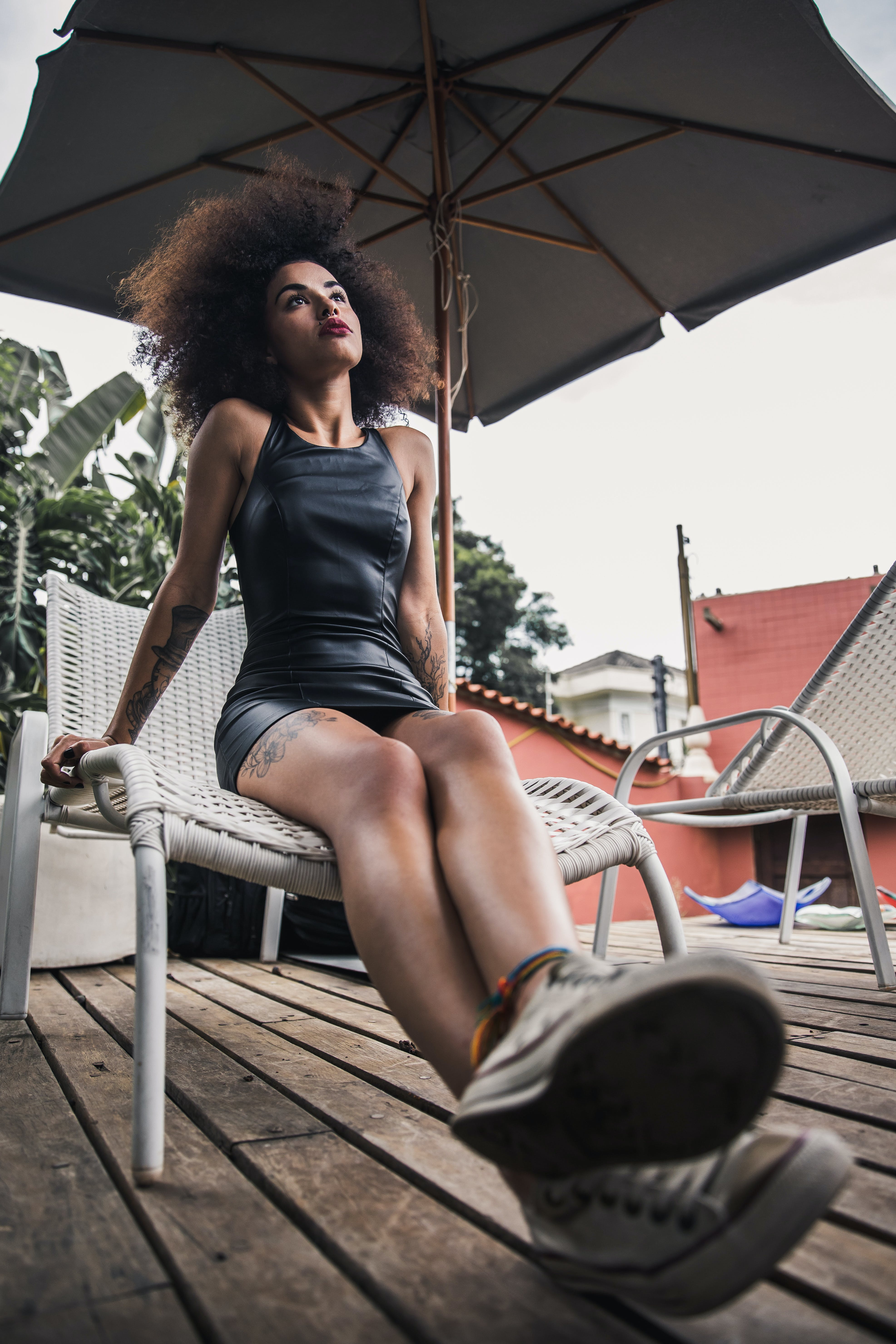 afro, afroameričanka, brunetka
