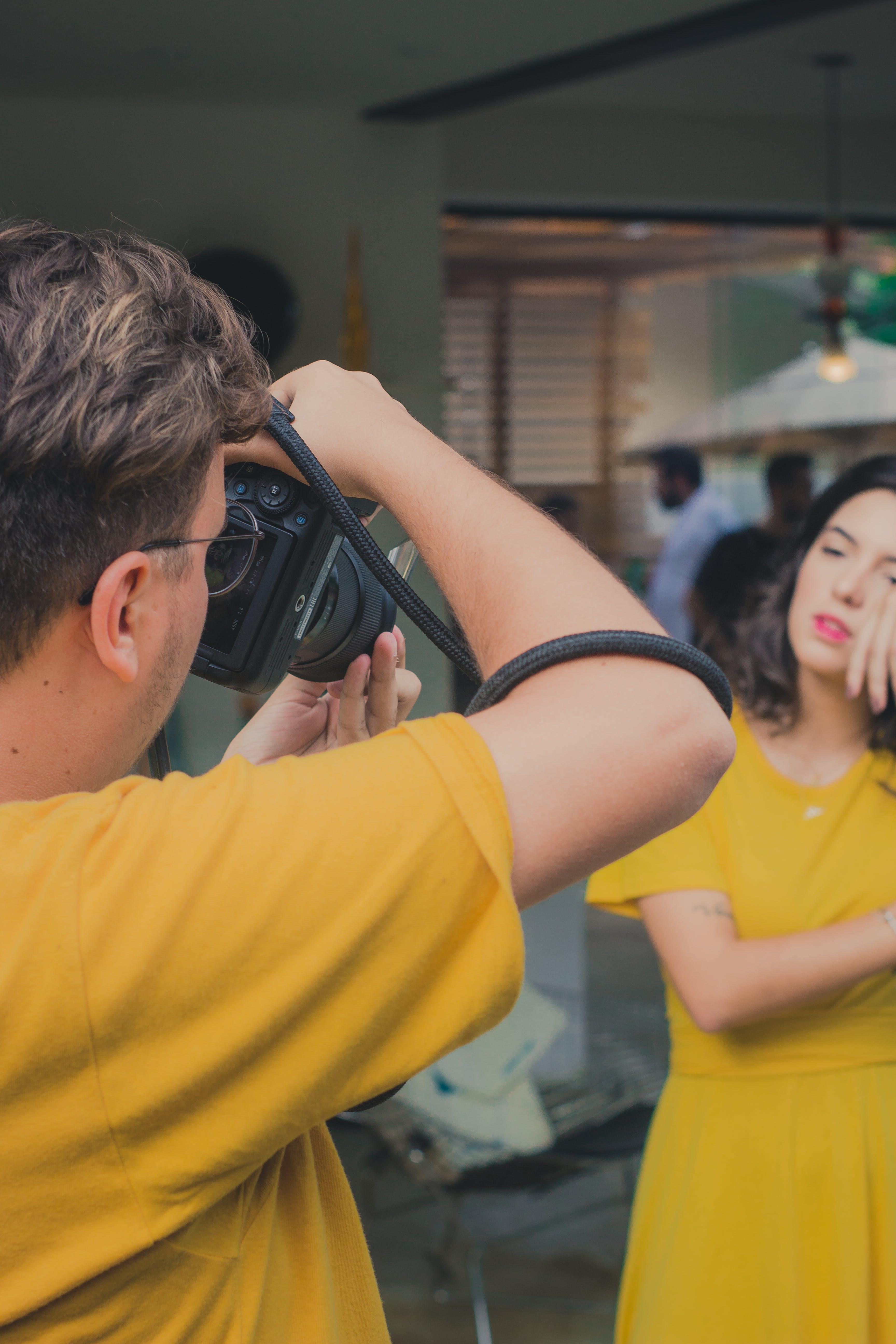 おとこ, 写真を撮ります, 写真家, 女性の無料の写真素材