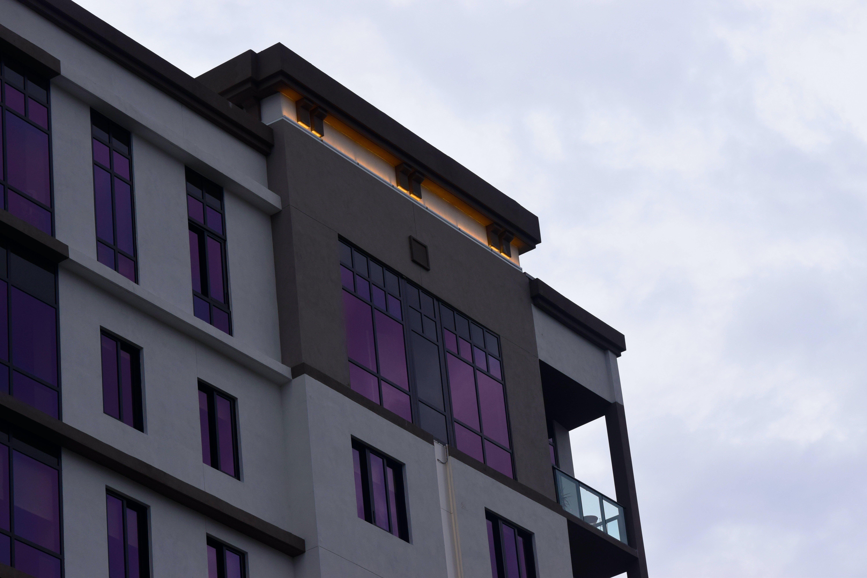 Free stock photo of #building #purple #light