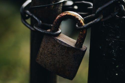 녹슨, 어두운, 자물쇠, 체인의 무료 스톡 사진