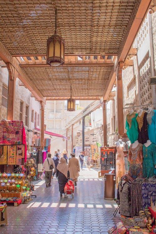 Základová fotografie zdarma na téma Dubaj, pouliční trh
