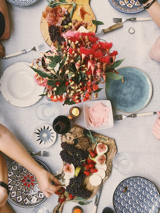 Variety of Fruits on Table