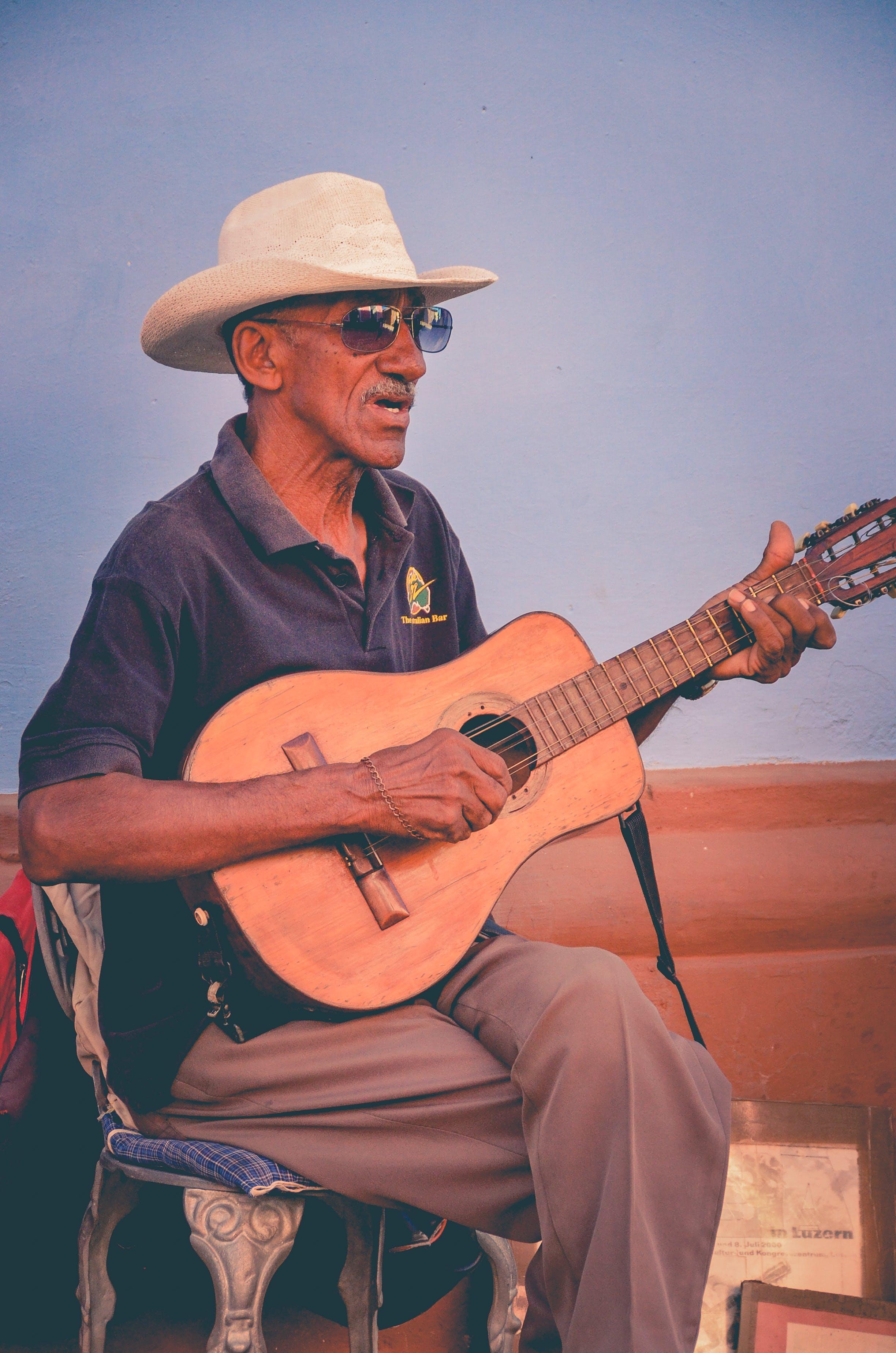 Man Playing Classical Guitar