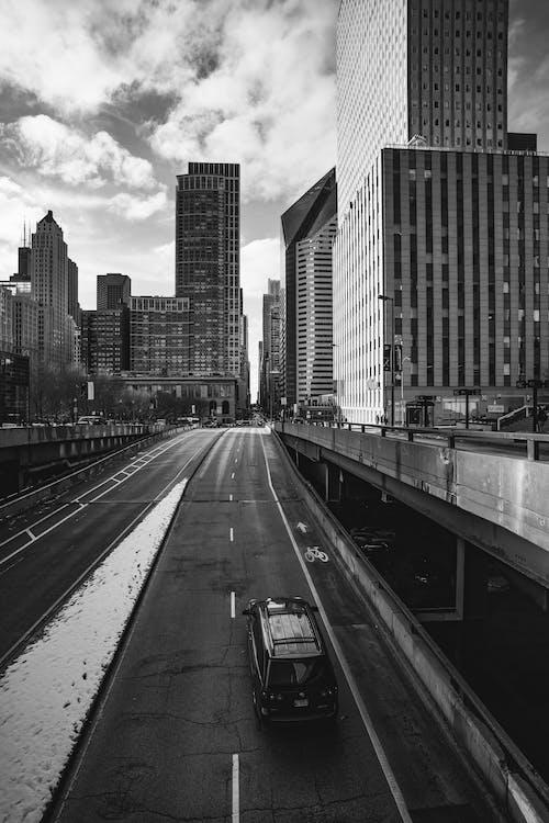 คลังภาพถ่ายฟรี ของ skyscape, การจราจร, การท่องเที่ยว, ตัวเมือง