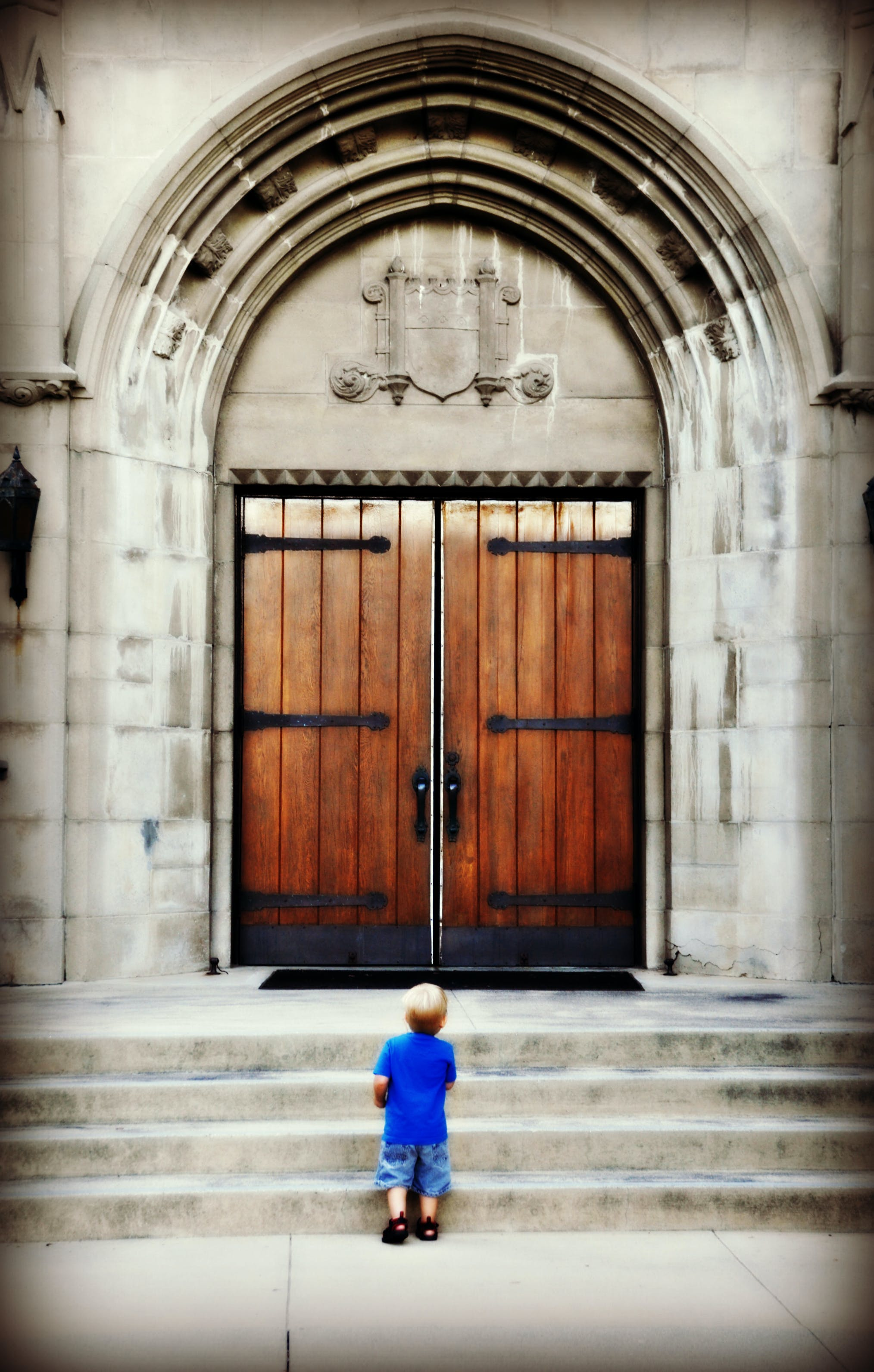 Free stock photo of child, church, god
