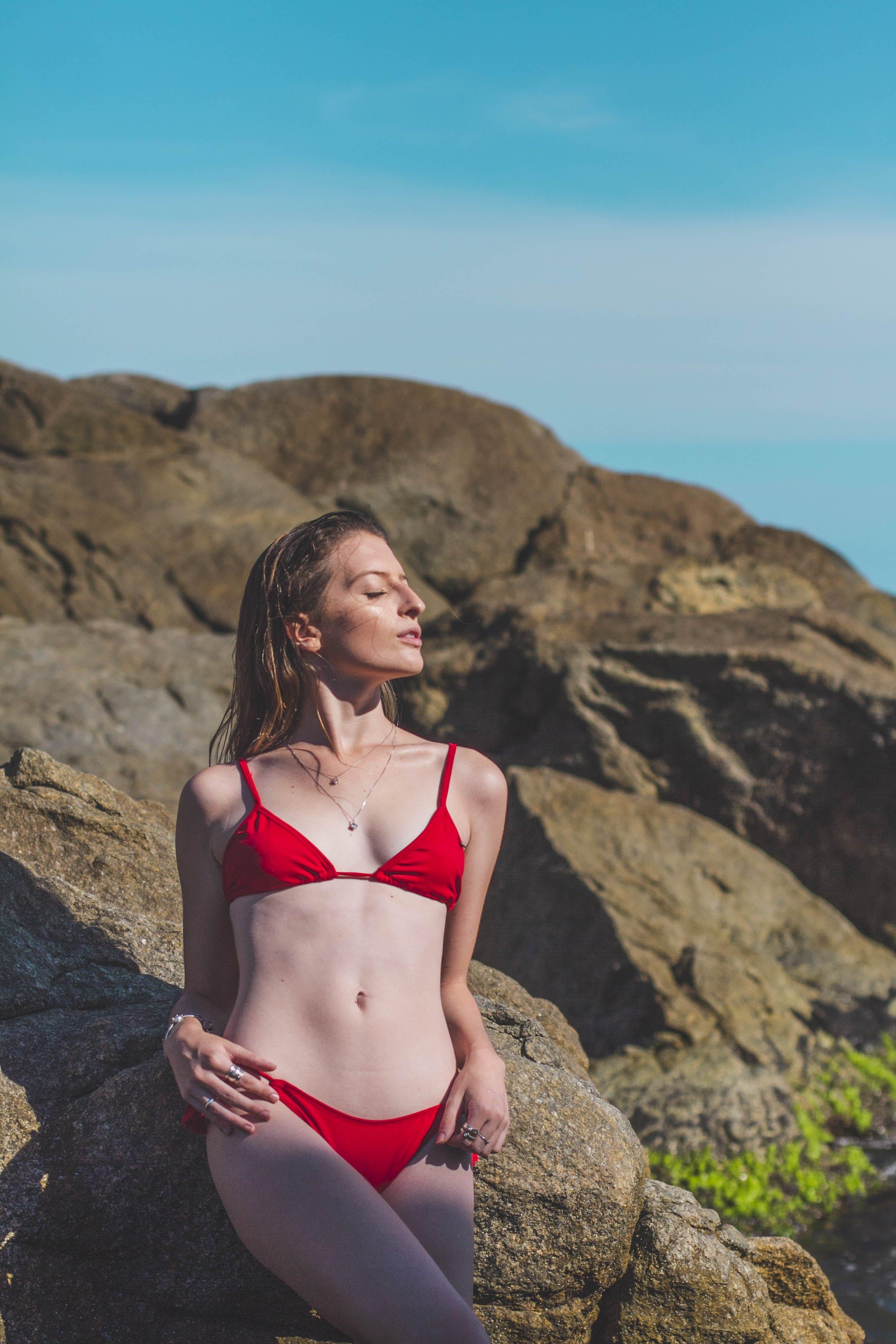 Photo of Woman Wearing Red Bikini