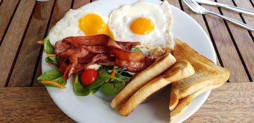 Free stock photo of bacon, eggs, toast