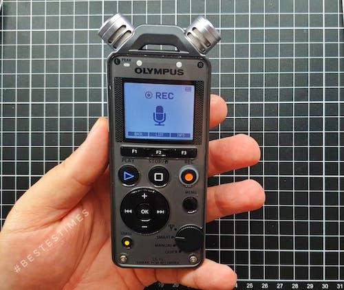 Free stock photo of audio, olympus, recording
