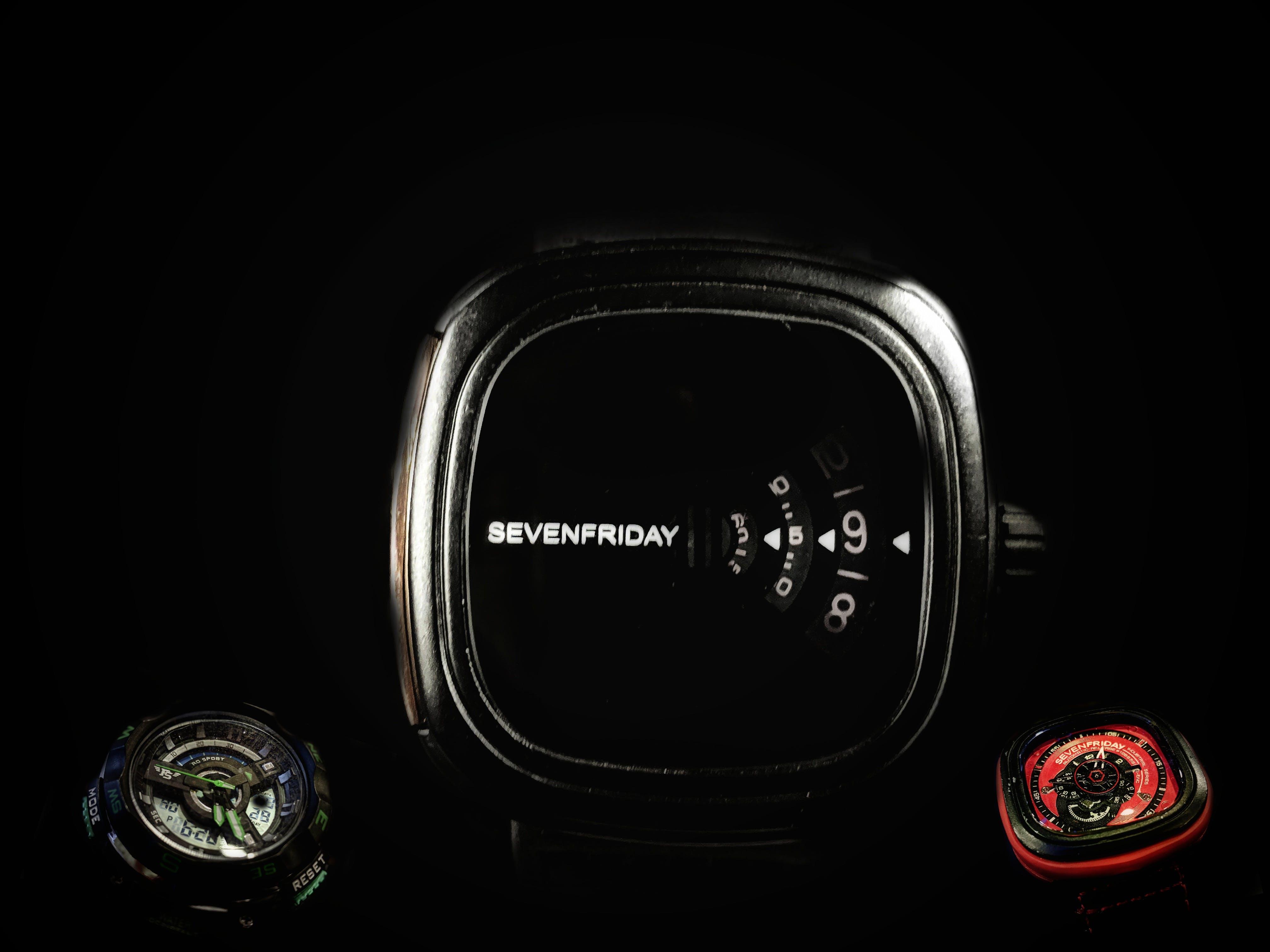 Gratis lagerfoto af farveprøver, lommeur, sort ur
