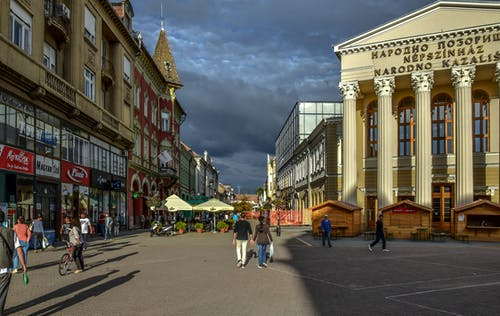 Gratis arkivbilde med by, firkant, gate, promenade